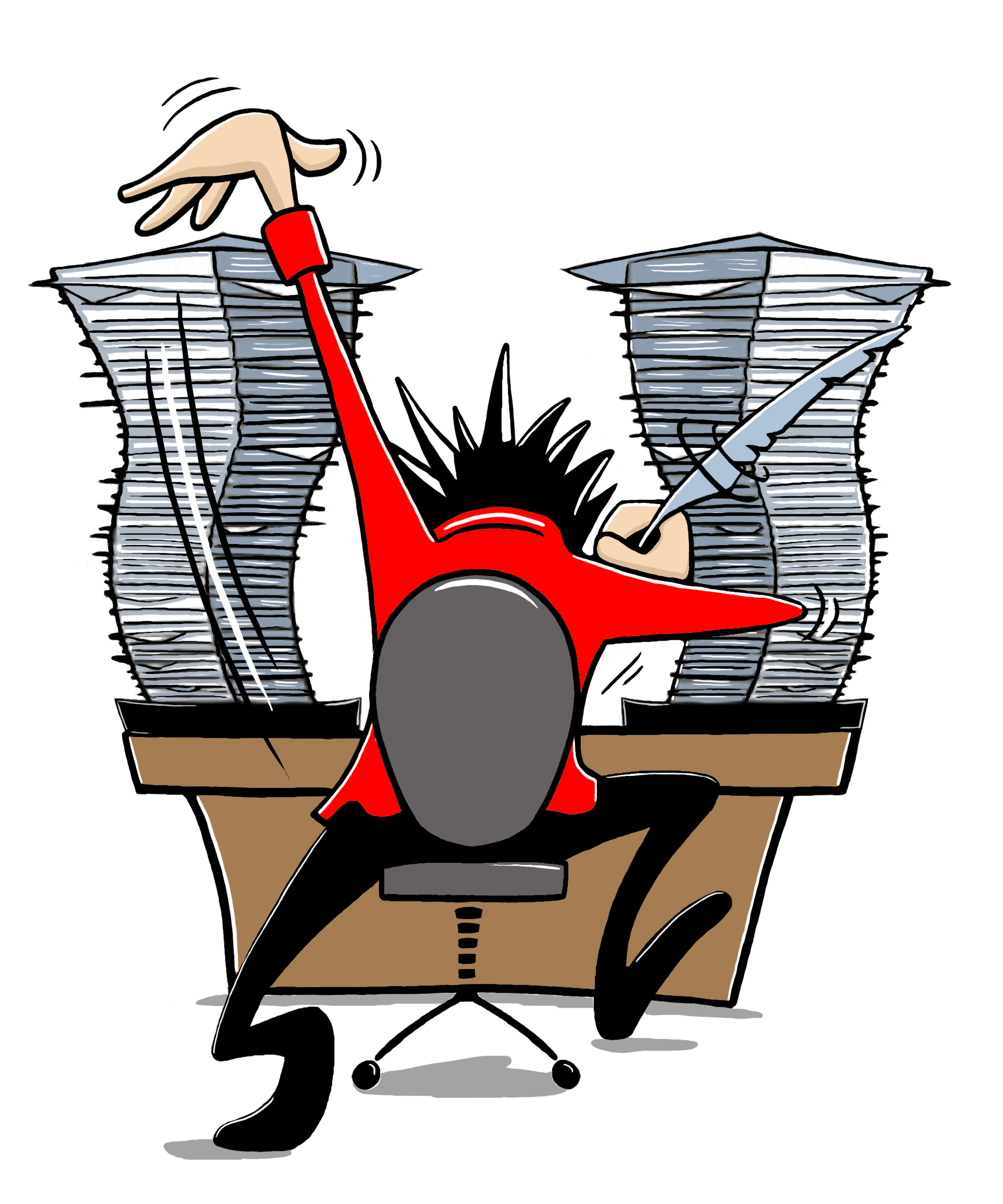 Image result for writing working hard cartoon