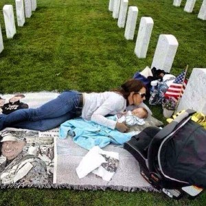 Memorial Day Mother & Child