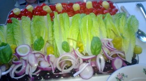Romaine Flower Salad Cropped