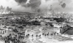 Storming the beaches of Normandy