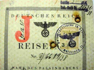 Rare German passport with Red J