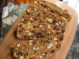 Rosemary Raisen pecan crispy bread