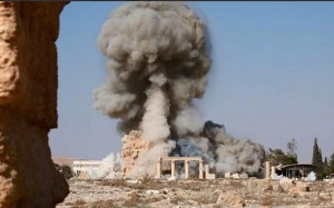 Palmyra ISIS Blowing Up Palmyra